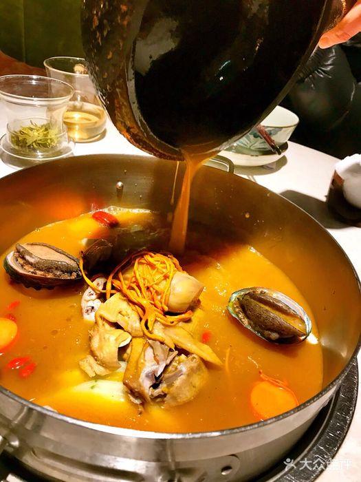 橘火海鲜酒楼鲍鱼鸡火锅图片