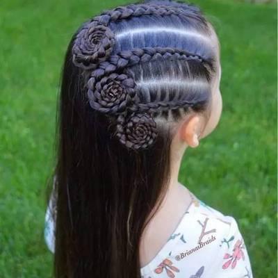 小女孩编发发型大全 高清大图效果图