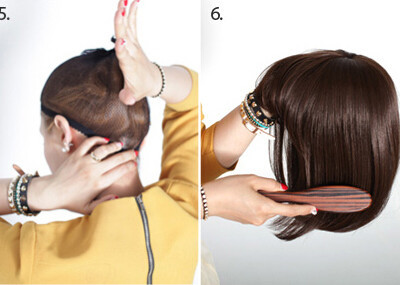假发怎么带比较真实不会掉 图解效果图