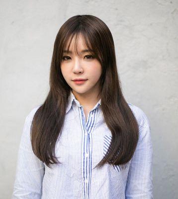 韩国女生假发图片 长发短发都甜美效果图