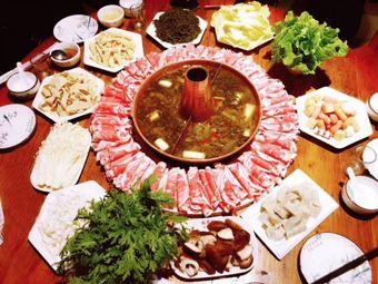 酸菜铜锅涮羊肉