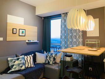 【义花义草】颂野松花湖度假区滑雪场俯瞰群山雪景120寸投屏青山公寓
