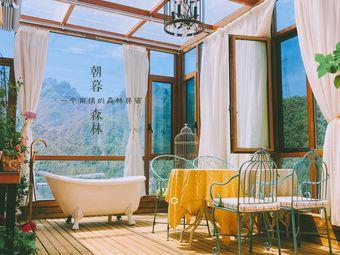 朝暮森林—山斓民宿一个用情的森林民宿暖气开放顶层花园近老君山山景房